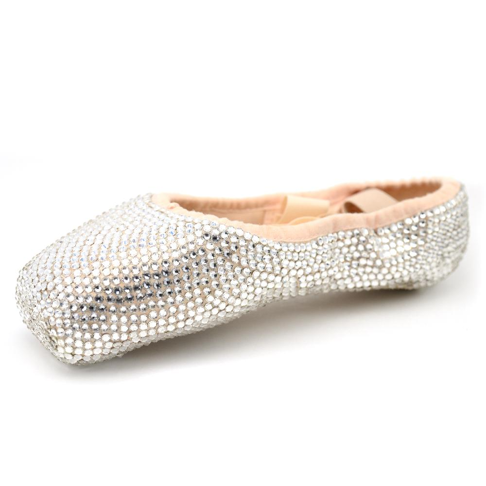 557f2a3c5d68 Custom Crystal Covered Pointe Shoes • Your Pointe Shoes Transformed ...