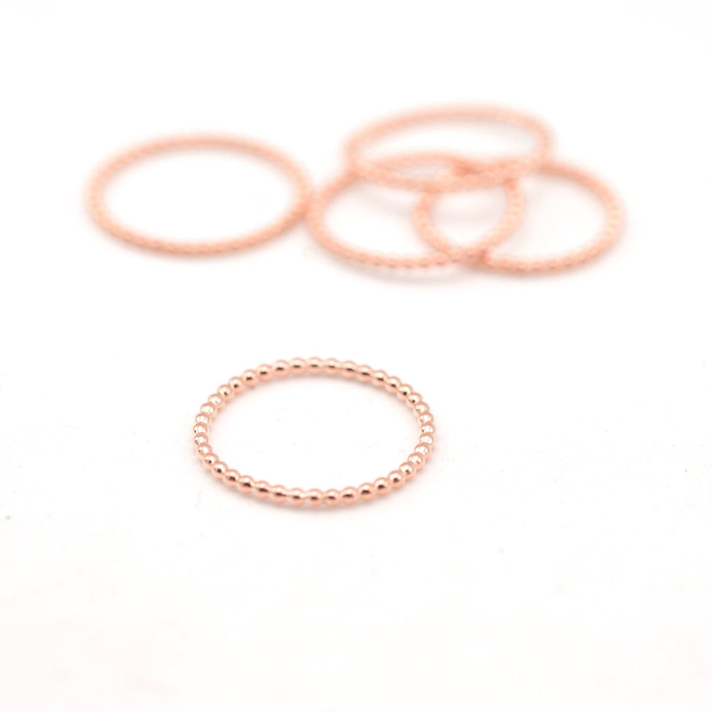Rose Gold Beaded Stacking Rings