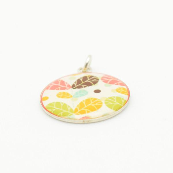 Multicolored Leaf Pendant