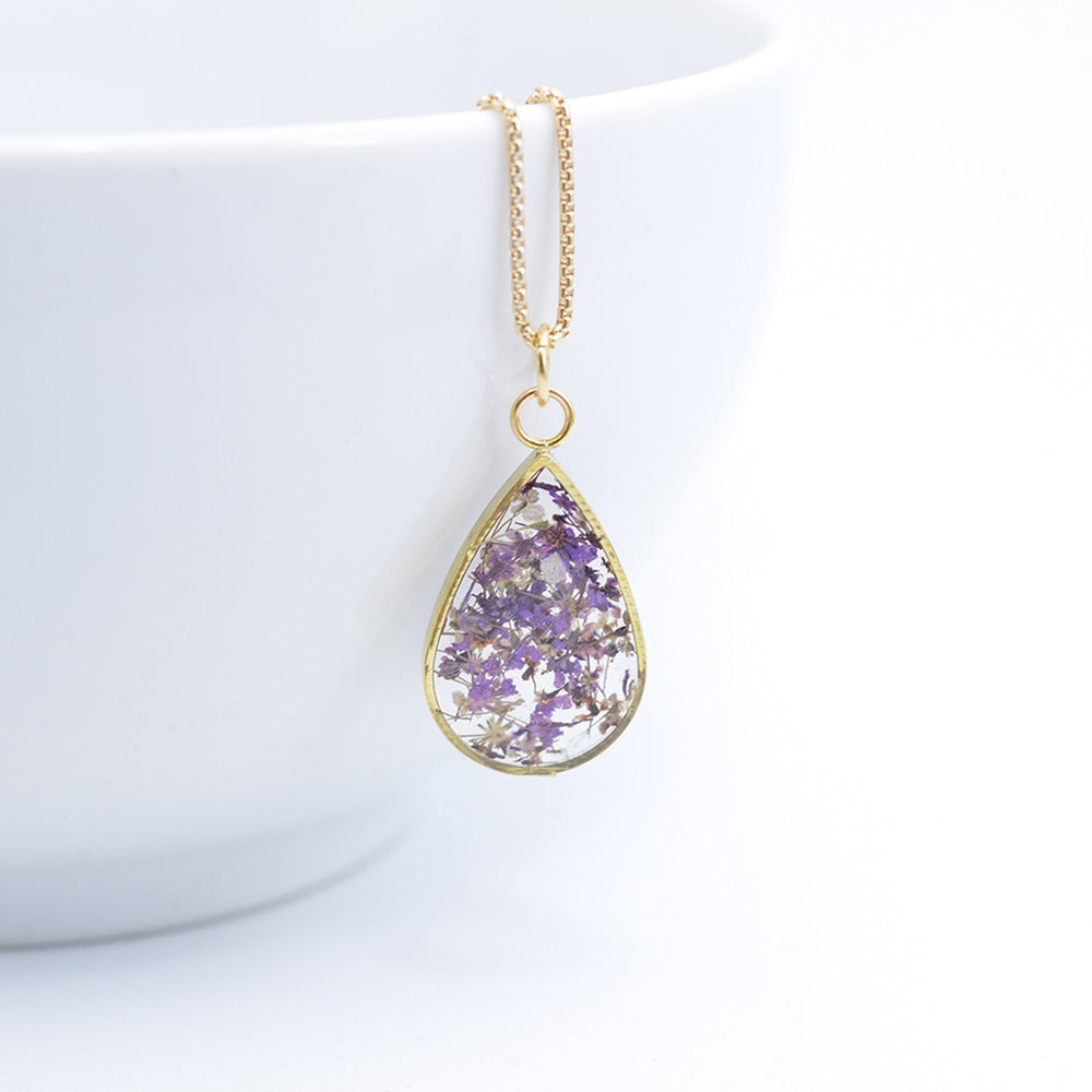 Teardrop with Violet Flowers
