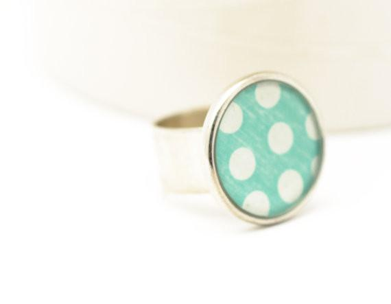 Adjustable Polka Dot Ring
