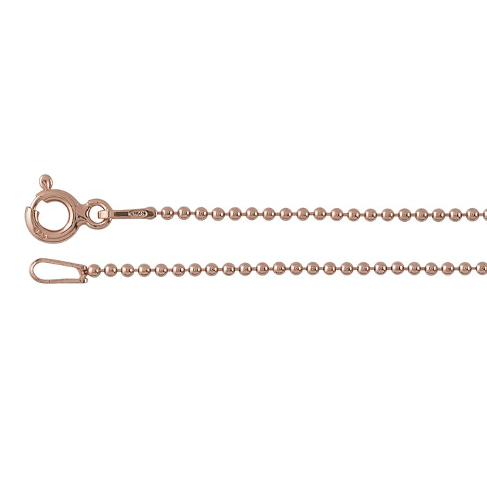 rose gold bead chain