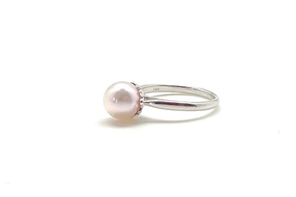 Petite Japanese Cultured Pearl Ring