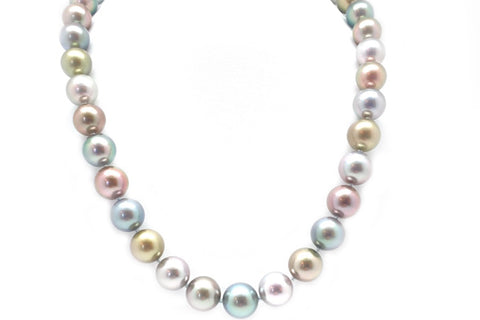 Multi Color Tahitian Cultured Pearl Strand