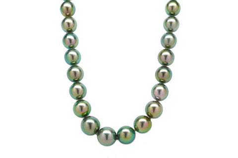 Bright Green South Sea Cultured Pearl Strand