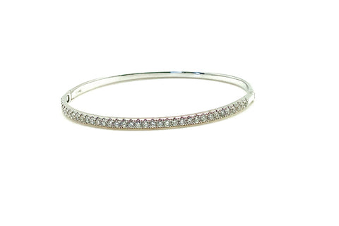 Diamond Bangle Bracelet - Assorted Metal Colors