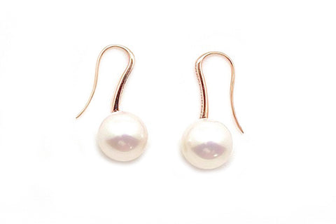 South Sea Cultured Pearl Diamond Wire Earrings - Assorted Metal Colors