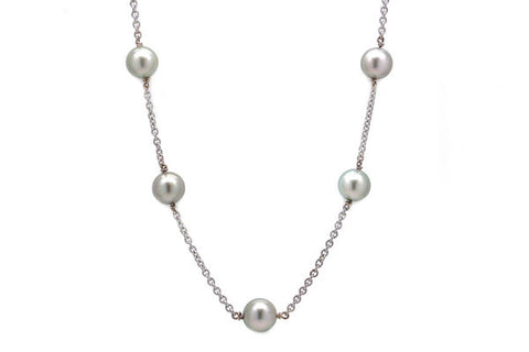 South Sea Cultured Pearl Tin-Cup Necklace