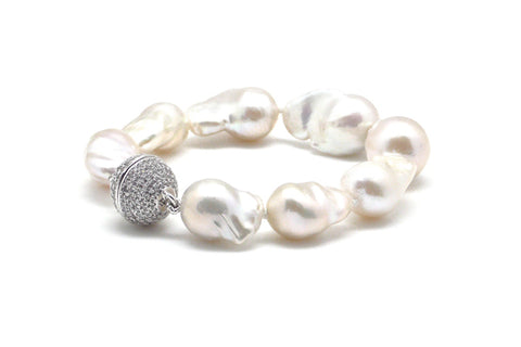 Baroque Freshwater Cultured Pearl Magnetic Bracelet