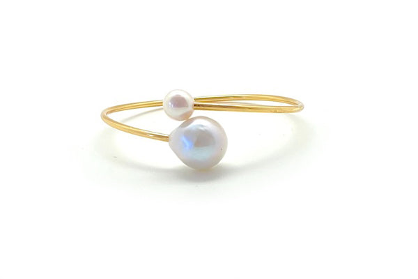 Freshwater Cultured Pearl Bypass Cuff Bracelet