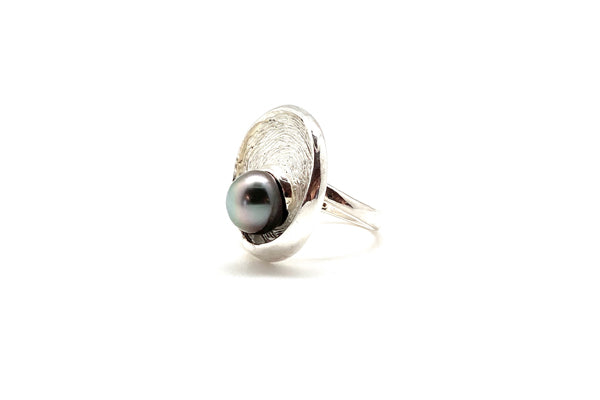 Tahitian Cultured Pearl Swirl Ring