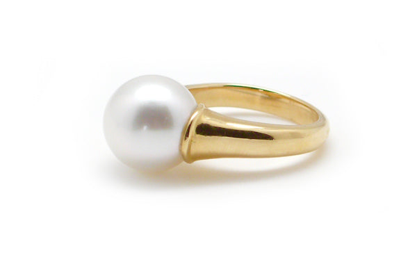 South Sea Cultured Pearl Horn Ring - Assorted Metal Colors