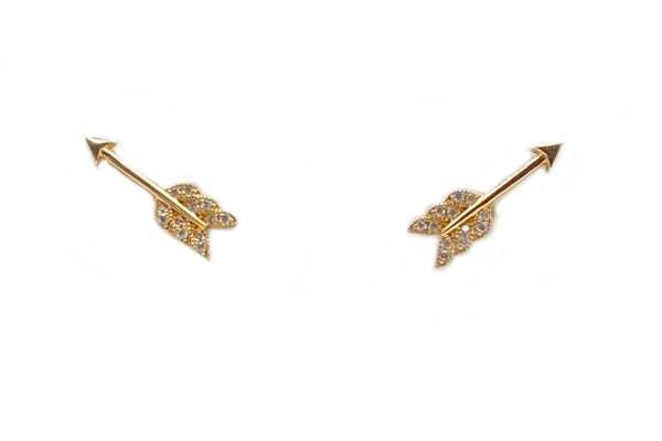 Petite Diamond Arrow Earrings - Assorted Metal Colors