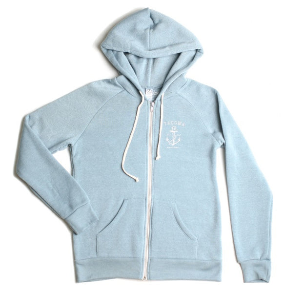 Tacoma Anchor/Paramount Zip Hoodie | Eco Blue