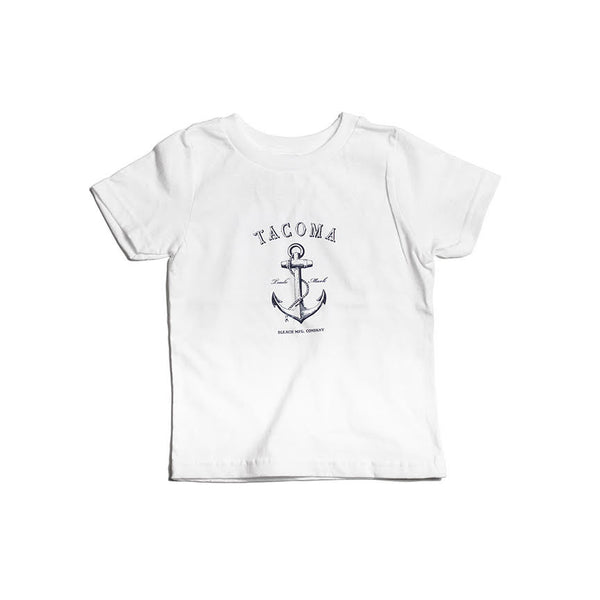 Tacoma Anchor Tee | White Navy