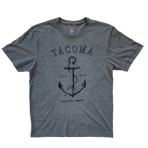 ANCHOR TEE - GREY/BLACK