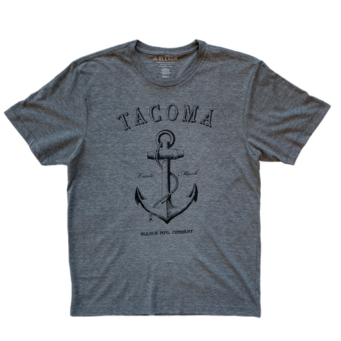 ANCHOR TEE - CHARCOAL/WHITE