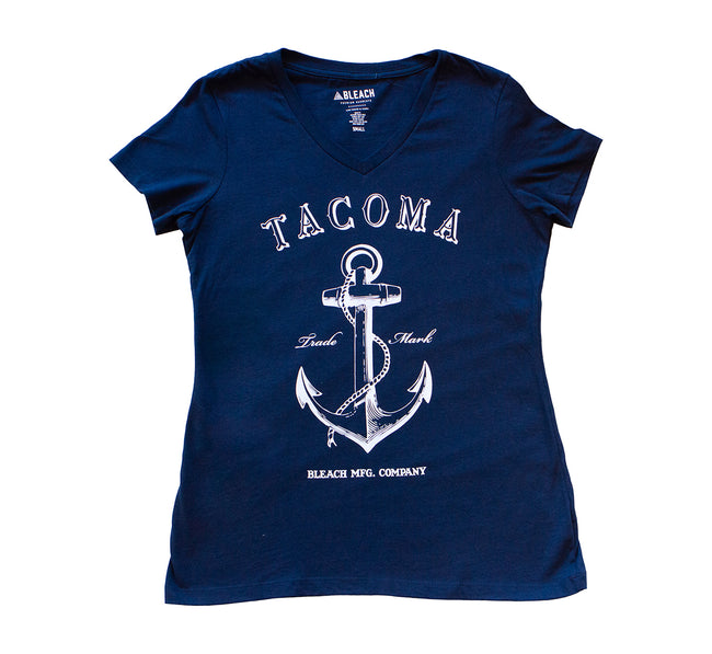 ANCHOR WOMEN'S V-NECK - NAVY/WHITE