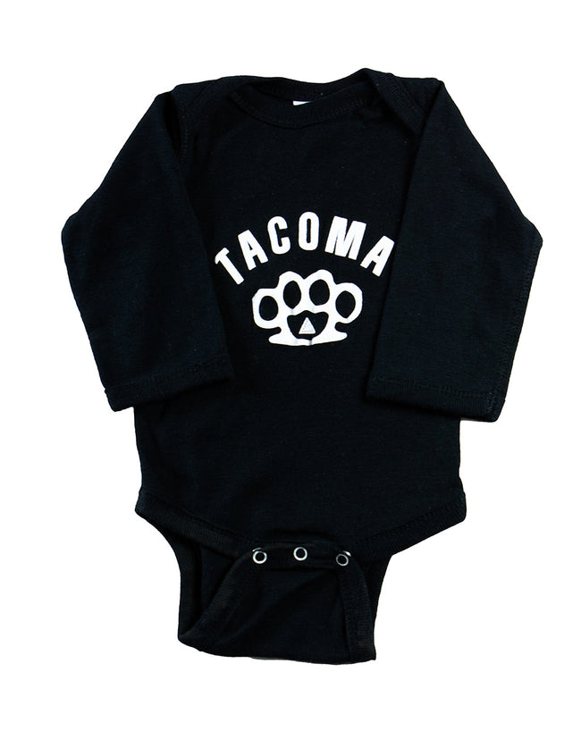 KNUCKLES INFANT LONG SLEEVE ONEISE- BLACK