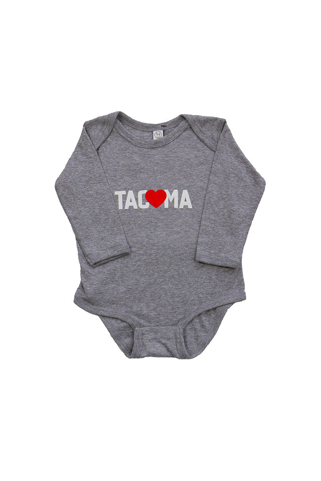 TACOMA LOVE LONG SLEEVE ONESIE