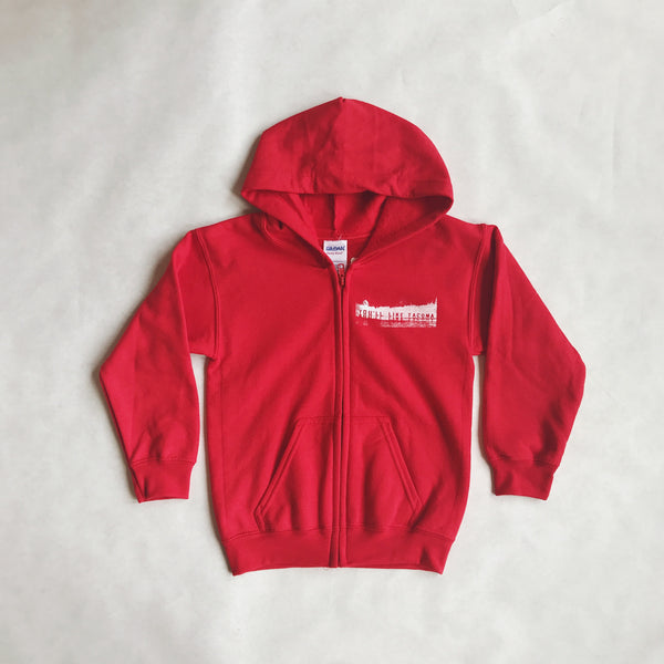 Youth You'll Like Tacoma + Tacoma Anchor Zip Hoodie | Red