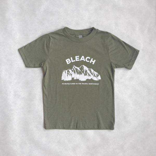 Youth Bleach NW Tee | Olive Green
