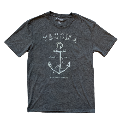 ANCHOR TEE - GREY/WHITE