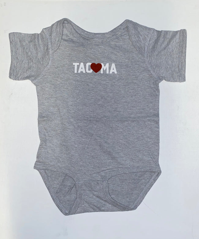 TACOMA LOVE ONESIE- HEATHER
