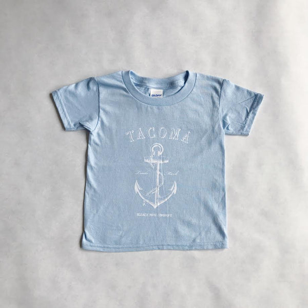 Kids Tacoma Anchor Tee | Baby Blue