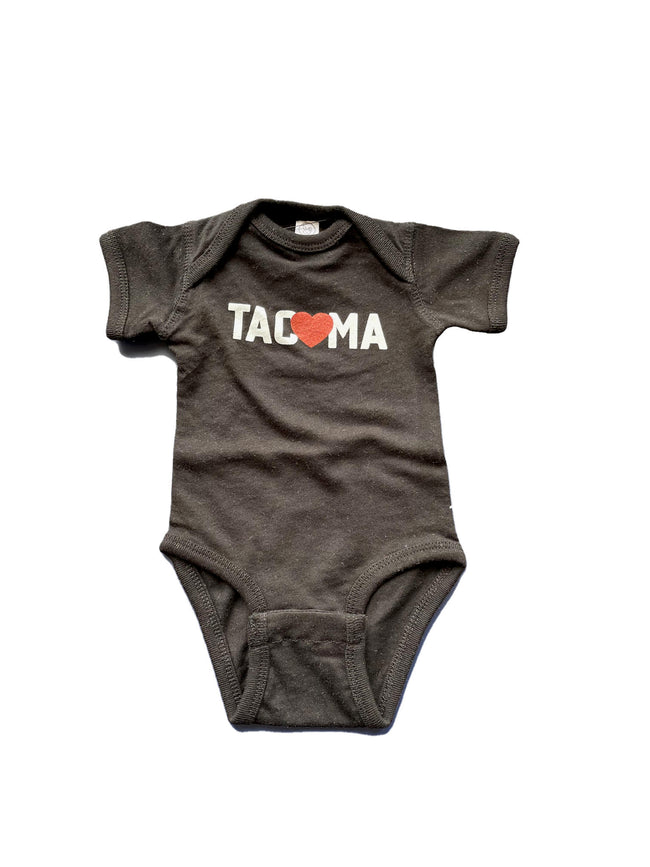 TACOMA LOVE ONESIE- BLACK