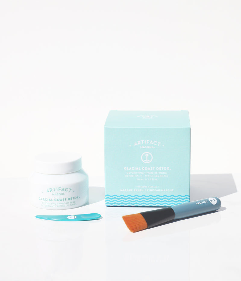 Glacial Coast Detox Masque + Brush Kit