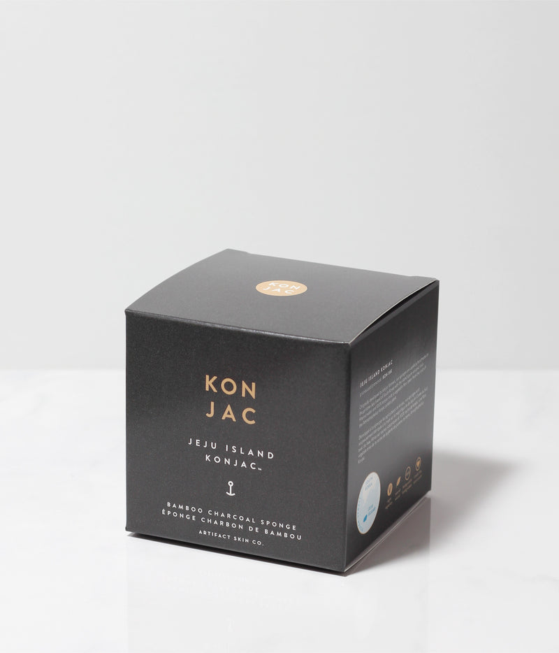 Jeju Island Bamboo Charcoal Konjac Facial Sponge - Artifact Skin Co.