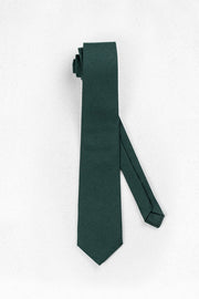 Hunter Green Wool Gabardine Skinny Necktie