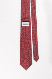Dusty Red Leaves Skinny Necktie