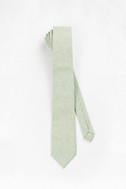 Light Sage Green Linen Skinny Necktie