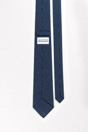 Small Navy and White Polka Dot Skinny Necktie