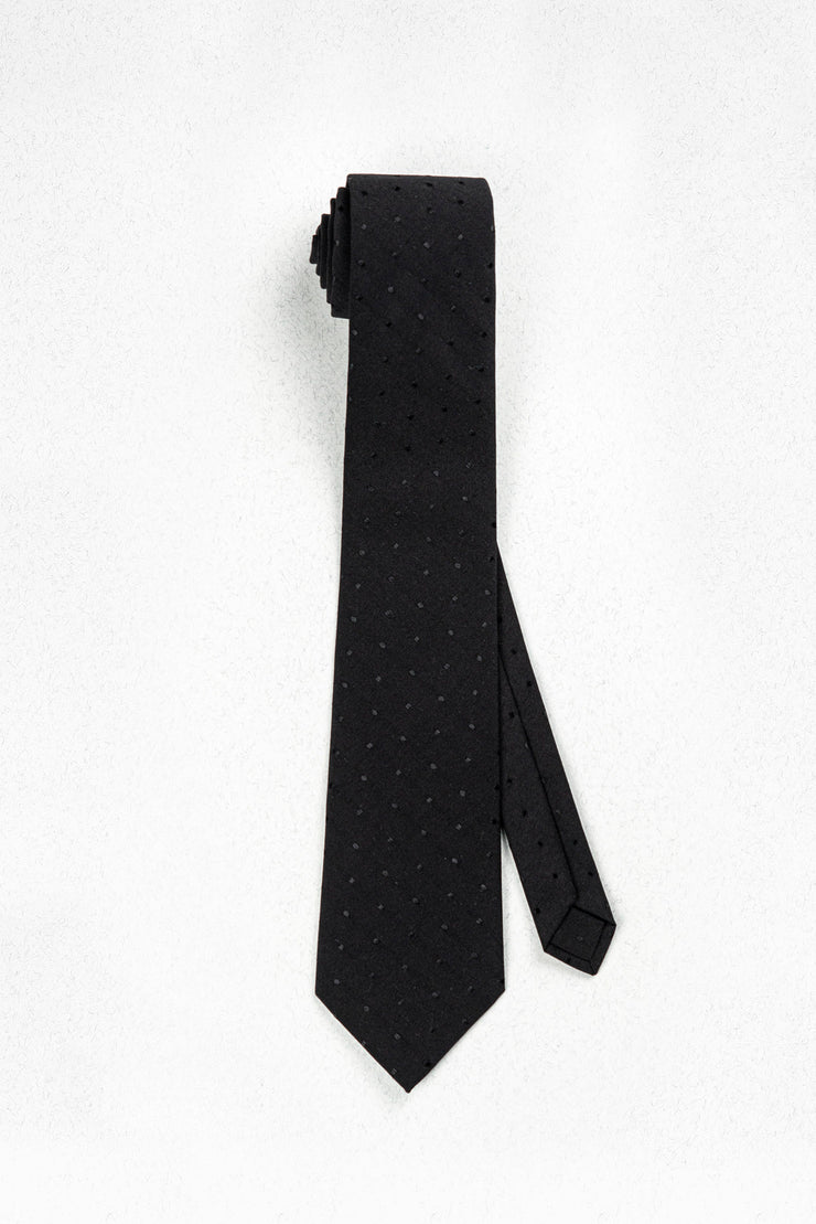 All Black Everything Skinny Necktie
