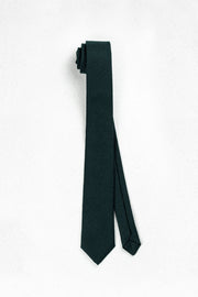 Hunter Green Wool Skinny Necktie