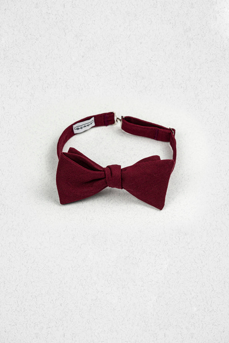 Cranberry Linen Self Tie