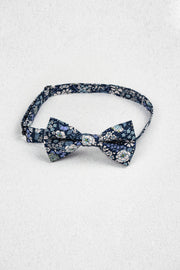 Japanese Blue Floral Pre-Tied Bow Tie