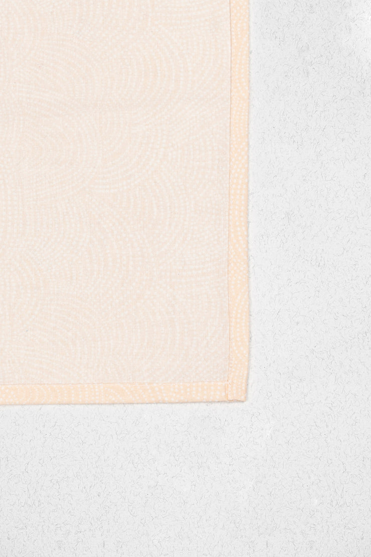 Light Peach Rounds Pocket Square