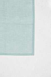 Light Teal Rounds Pocket Square