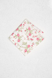 Pink Roses Floral Pocket Square