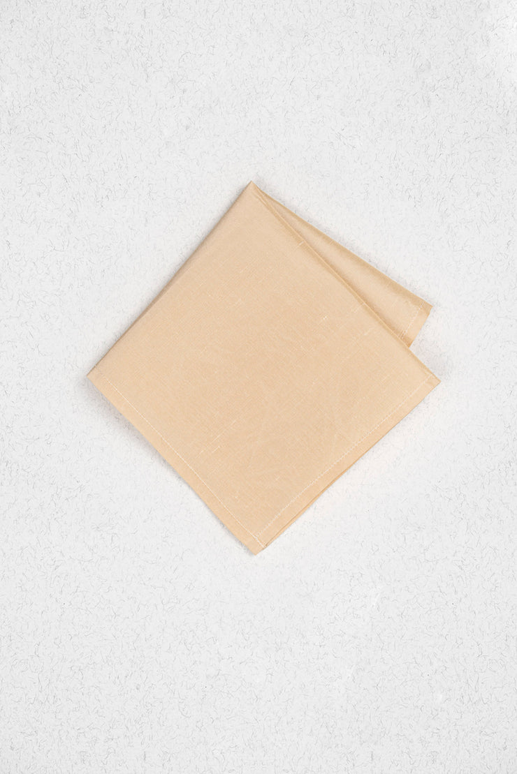 Ivory Cream Raw Silk Pocket Square