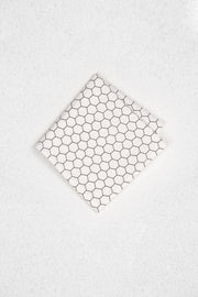 Black and White Honeycomb Pocket Square