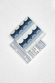 Geometric Japanese Cotton Pocket Square Set