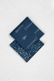 Deep Blue Sea Japanese Cotton Pocket Square Set