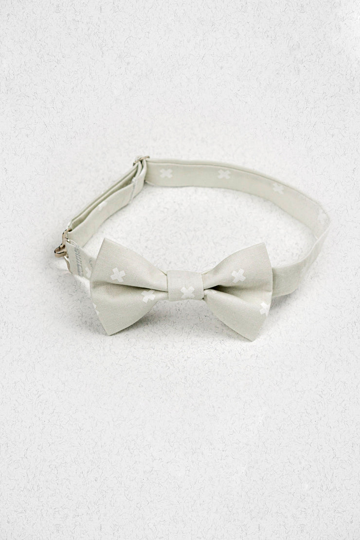 Light Grey X Marks the Spot Junior Pre-Tied Bow Tie