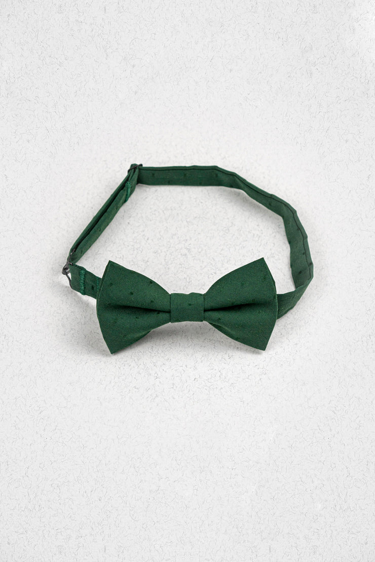 Emerald Green Polka Dot Pre-Tied Bow Tie