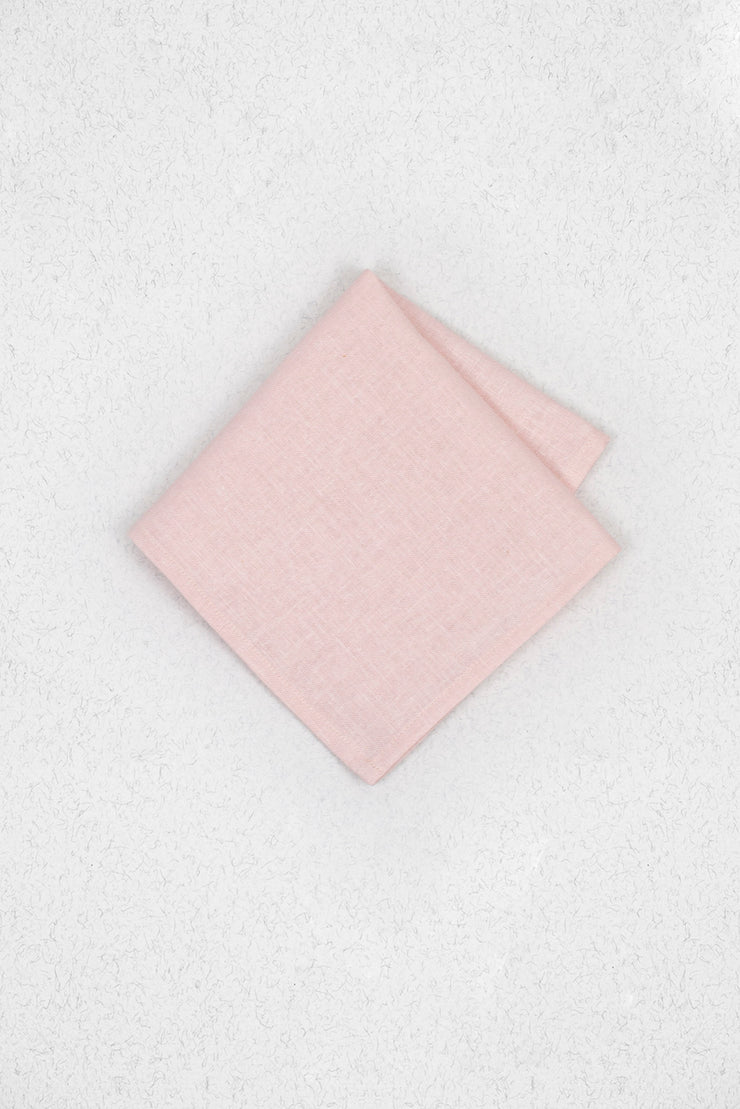 Light Dusty Blush Linen Pocket Square